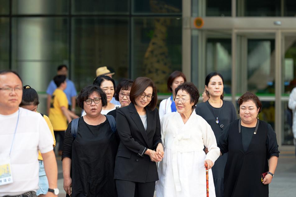 은수미 성남시장, 13일, 일본군 '위안부' 피해자 기림의 날 기념식에 참석해