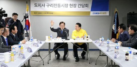 이재명, 구리전통시장서 '코로나19' 대응 현장 행보