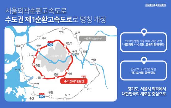 """""""서울외곽순환고속도로 이제는 수도권 제1순환고속도로로 불러주세요"""""""